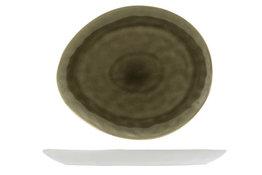 Bord ovaal 19,5cm Spirit Olive