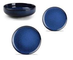 Serviesset 12-delig Meridian blauw