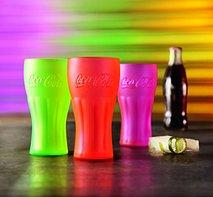 Coca Cola glazen set 3 delig Neon