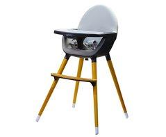Kinderstoel hoog bruin grijs Kinderline