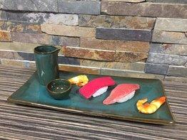 Serveerset sushi 3 delig Mundok groen