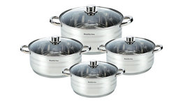 Kookpannen set 8-delig glazen deksels