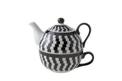 Tea for One theeset Black White