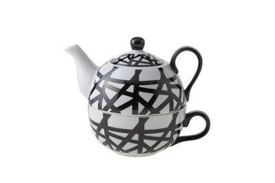 Tea for One theeset Zwart Wit