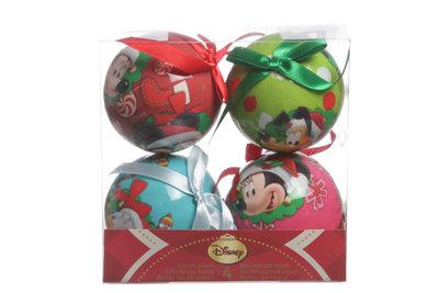 Kerstballen 4 st Disney
