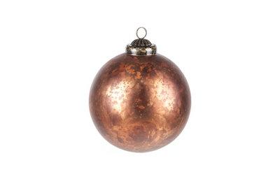 Kerstbal antiek roest 10cm
