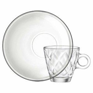 Espresso glas 10 cl en schotel Kaleido
