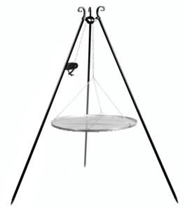 Driepoot bbq met katrol RVS 180 cm