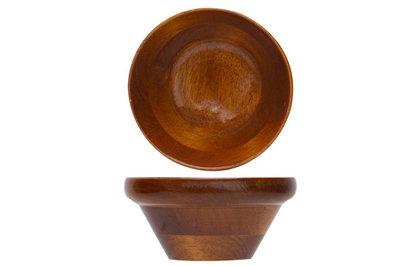 Schaaltje 13cm acacia hout