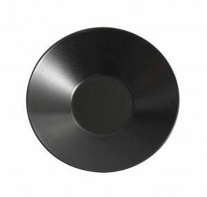 Asia Black diep bord mat zwart 23 cm