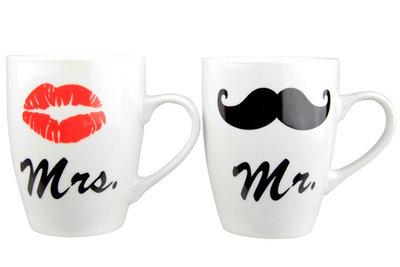Koffie bekers MR & MRS