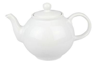 Theepot wit 1,75 liter porselein
