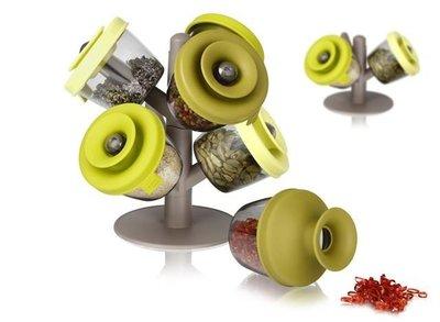 Kruiden- en specerijen dispenser set van 6
