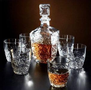 Whiskyset 7-delig karaf en glazen