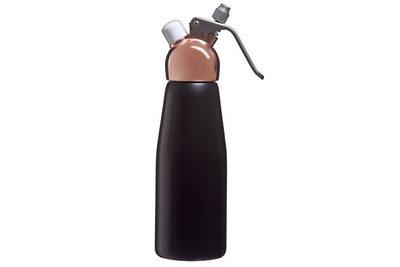 Slagroomspuit koper zwart 0,5 liter