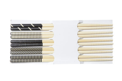 Chopsticks 5 sets zwart Cosy&trendy