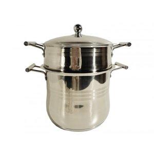 Couscous pan RVS 8 liter