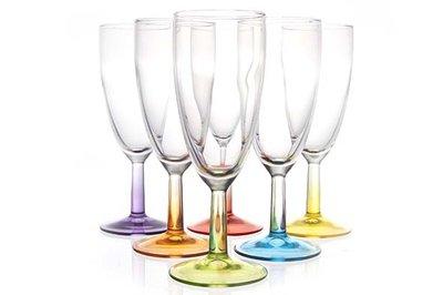 Crazy Colors champagneglas 14cl