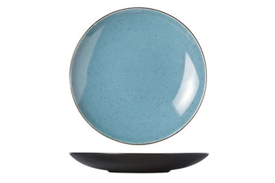 Bord 21,5 cm blauw Finesse