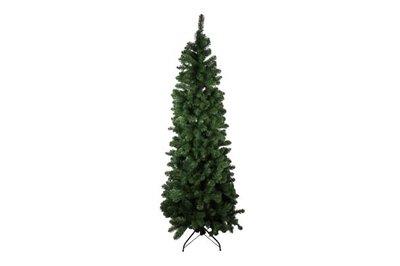 Kunst kerstboom groen smal 180 cm
