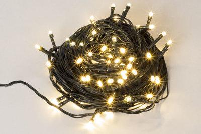 Kerstverlichting 12 meter witte lamp