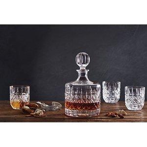 Whisky set karaf met 4 glazen kristal Bond Piano