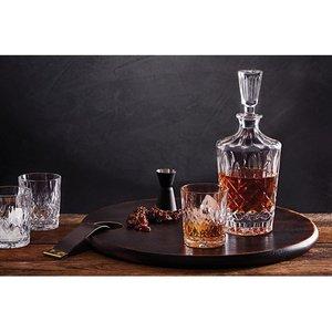Whisky set karaf met 4 glazen kristal Harding Bond