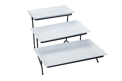 Buffet etagere 3 borden langwerpig