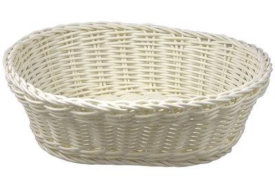 Brood mandje wit ovaal 25cm