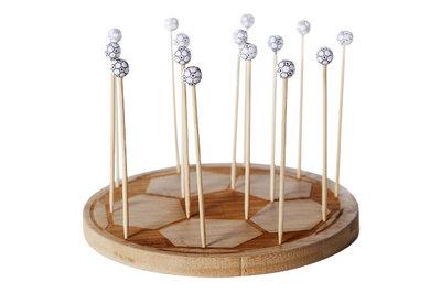 Prikkers op houten bord 15 stuks