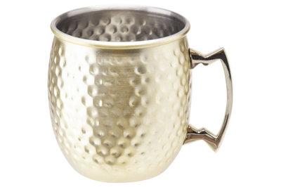 Moscow Mug Drinkbeker Goud gehamerd 8,5 x 10 cm