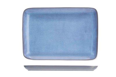 Bord rechthoek 21cm Baikal Blue