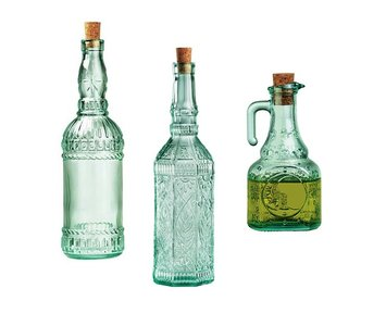 Flessenset olie azijn 3 delig country