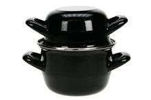 Mini mosselpot zwart 0,5kg 12 cm