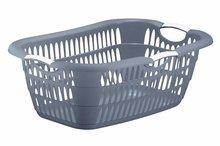 Wasmand ergonomisch blauw grijs 68 x 46 x 25 cm