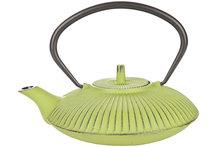 Theepot gietzijzer Umbrella groen met filter 0,8 liter