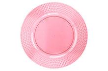 Bord 33 cm Roze summer kunststof