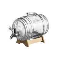 Kilner drankdispenser Barrel 1 liter zilver