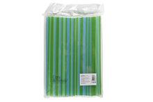 Rietjes groen, blauw 400 stuks afbreekbaar 24cm