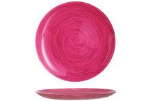 Bord roze 25 cm Stonemania