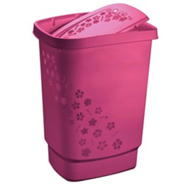 Wasmand roze hoog 55 liter