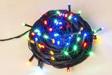 Kerstverlichting 12 meter LED gekleurde lampjes