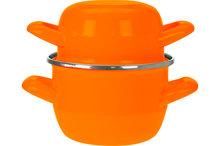 Mini mosselpot oranje 0,5kg - 12 cm