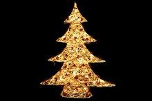 Kerstboom rattan LED 60 cm
