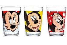 Disney Minnie en Mickey Mouse glazen set van 3