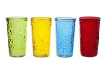 Longdrink Tiki glas gekleurd set van 4